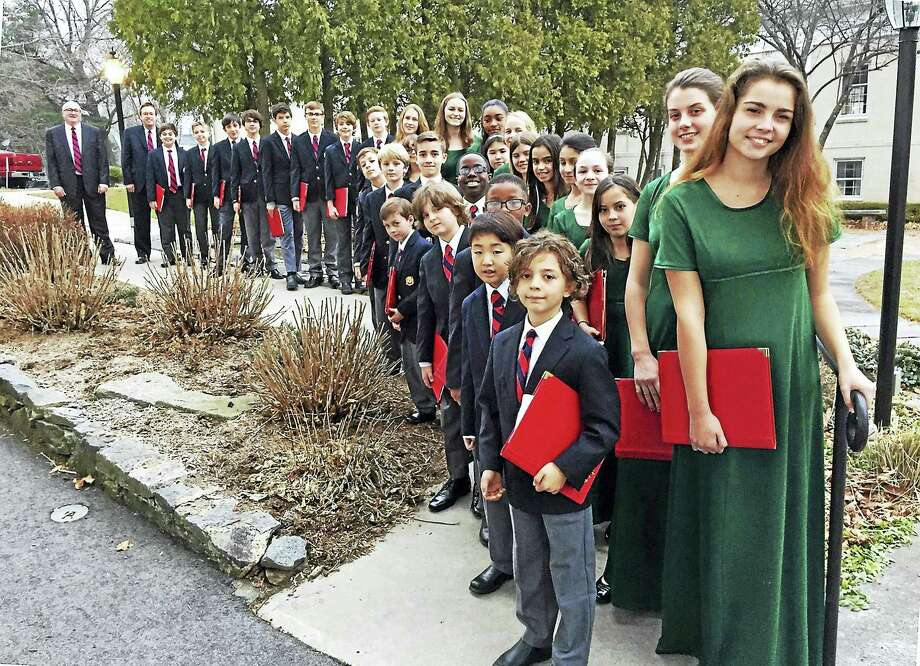 Members of the girls and boys choirs at Trinity Church will sing Saturday night. Photo: Photo Courtesy Of Trinity Church