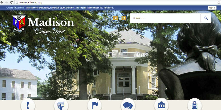 A screenshot of the new Madison town website. Photo: Journal Register Co.