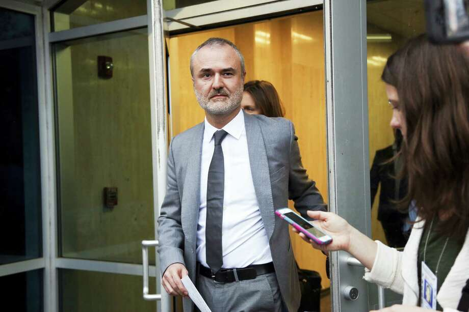 Gawker founder Nick Denton walks out of the courthouse in St. Petersburg, Fla. in March. Gawker.com is going to shut down as its parent company is sold to Univision, a reporter for the 14-year-old site said Thursday, Aug. 18, 2016. A Gawker report said that Denton told staffers that Gawker.com was ending on Thursday afternoon. Photo: Eve Edelheit — The Tampa Bay Times Via AP, File / Tampa Bay Times