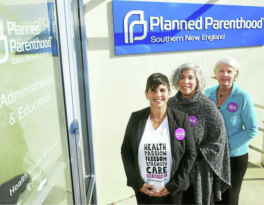 Planned Parenthood of Southern New England executives Gretchen Raffa, director of public policy, advocacy and strategic engagement, left, Pierrette Comulada Silverman, vice president of education and training, center, and Judy Tabar, president and CEO, at the Planned Parenthood office in New Haven. Photo: Peter Hvizdak — New Haven Register  / ©2016 Peter Hvizdak
