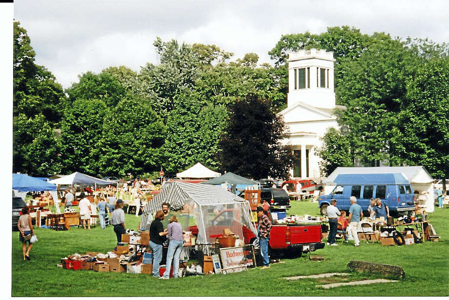 The Deep River Congregational Church, 1 Church Street, Deep River, has been preparing for its Annual Flea Market and Rummage Sale which will be held on August 20th.  The Flea Market, which is held on Marvin Field and on the grounds around the church, runs from 8:30 a.m. – 3:00 p.m. with over 80 vendors, who bring a wide variety of items to sell, from antiques to hand crafted pieces.    There will be a variety of fresh baked goods for sale, prepared by our church members and friends.    Refreshments may also be purchased throughout the day:  coffee and doughnuts in the morning and hamburgers, hotdogs, and side dishes throughout the day. There are only a few 20 x 20 foot spaces available for $30, and you can reserve yours by contacting the church office for a reservation form and map.  The Rummage Sale Committee has been collecting items since June for our Rummage Sale during the same weekend as our Flea Market.  It will be a two day event--August 19th and 20th.   All are invited to a Rummage Pre-Sale on Friday, August 19th from 6:00 – 8:00 p.m. for a $5.00 admission fee.  The Main Rummage Sale will be held from 8:00 a.m. to 1:00 p.m. on Saturday, August 15th.   From 1:00 – 2:00 pm. there will be a Rummage Bag Sale for $3.00.bag.  Please join us for a fun day!  For further information, please contact the church office at (860-526-5045 or office.drcc@snet.net) or check out our church web site at www.deeprivercc.org. Photo: Journal Register Co.