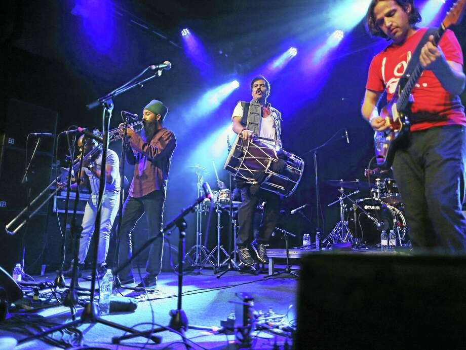 Red Baraat in concert. Photo: Rich Gastwirt/Arts & Ideas  / Copyright Rich Gastwirt, email rich@stageshooter.com for usage
