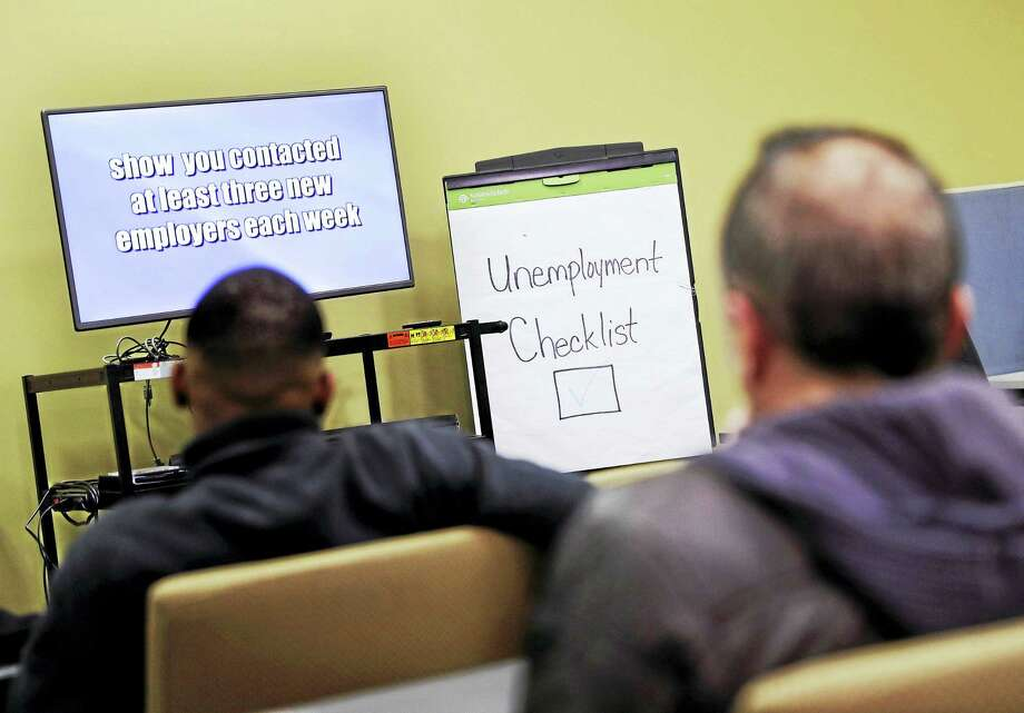 In this March 3, 2016 photo, people attend an employment orientation class at the Georgia Department of Labor office in Atlanta. Photo: AP Photo/David Goldman, File  / Copyright 2016 The Associated Press. All rights reserved. This material may not be published, broadcast, rewritten or redistribu