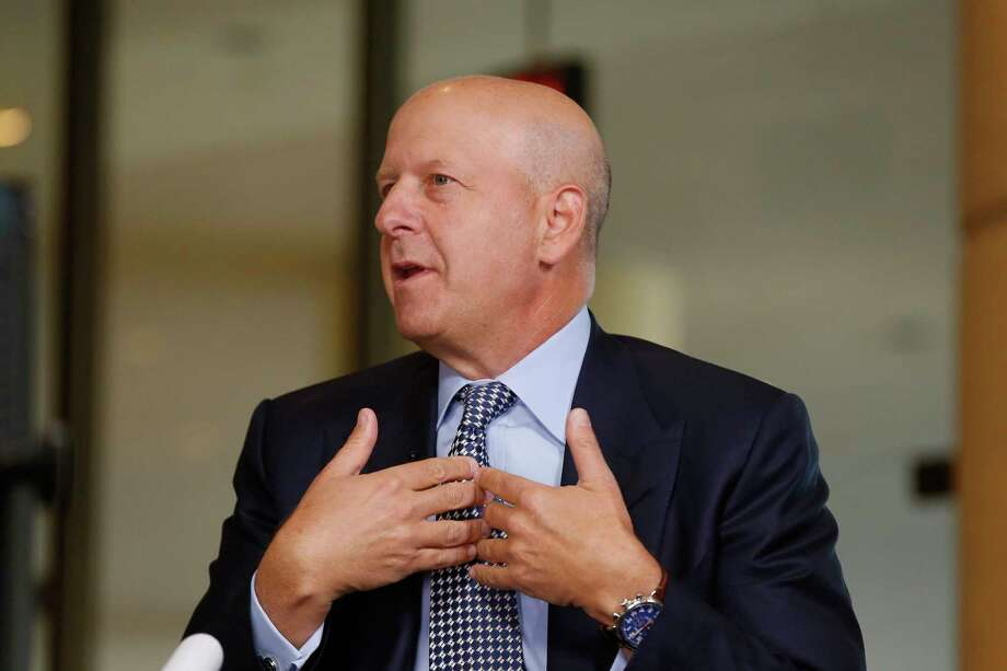 David Solomon, partner and co-head of Investment Banking at Goldman Sachs, speaks during a Bloomberg Television interview at the annual Milken Institute Global Conference in Beverly Hills, California on May 3, 2016. Photo: Bloomberg Photo — Patrick T. Fallon  / Bloomberg