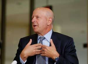 David Solomon, partner and co-head of Investment Banking at Goldman Sachs, speaks during a Bloomberg Television interview at the annual Milken Institute Global Conference in Beverly Hills, California on May 3, 2016.