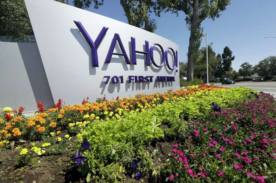 A Yahoo sign at the company's headquarters in Sunnyvale, Calif. On Wednesday, Dec. 14, 2016, Yahoo said it believes hackers stole data from more than one billion user accounts in August 2013. Photo: Marcio Jose Sanchez — AP File Photo / Copyright 2016 The Associated Press. All rights reserved.
