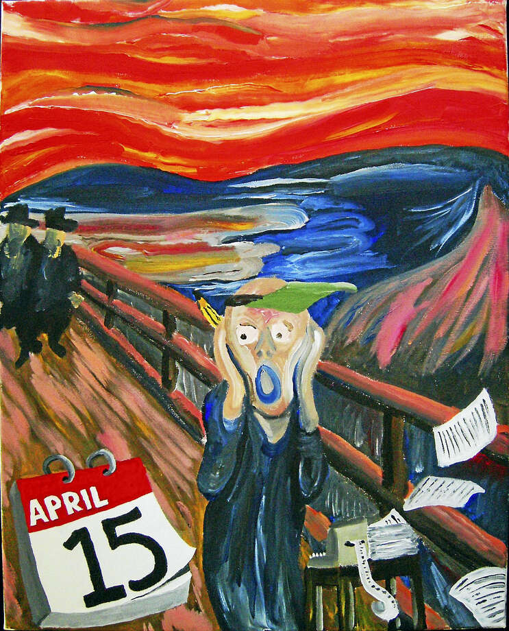 "Tony Juliano's parody painting of ""April 15th."" Photo: Contributed"