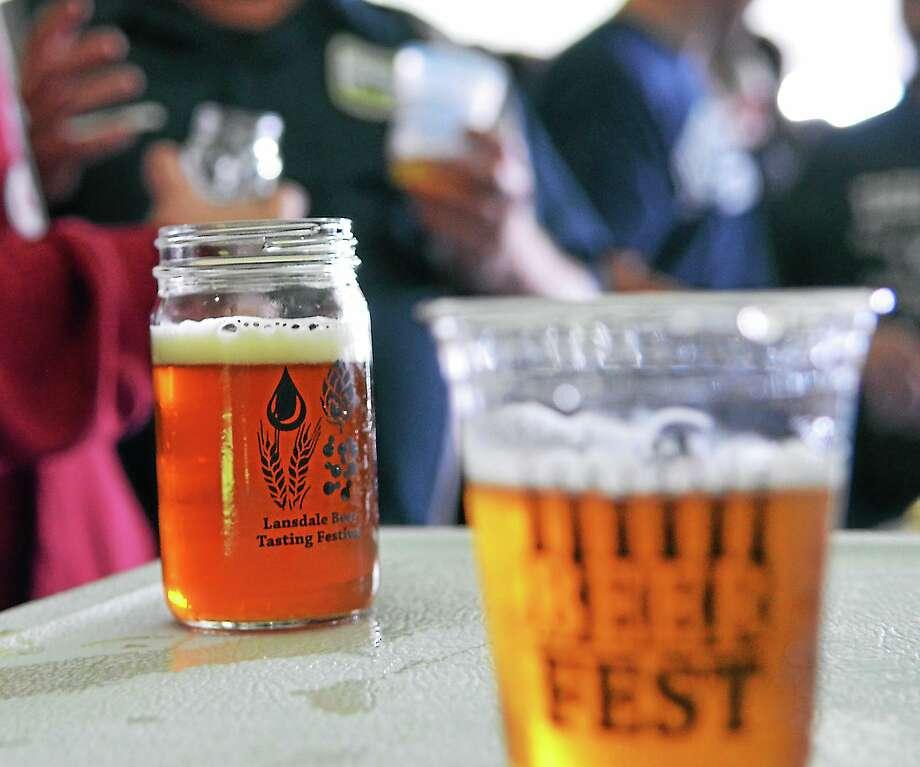 Samples of various brews during a beer tasting in Pennsylvania. Photo: Digital First Media File Photo