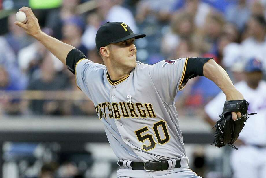 Pittsburgh Pirates pitcher Jameson Taillon delivers against the New York Mets during the first inning Tuesday. The Pirates blanked the Mets 4-0. Photo: JULIE JACOBSON — THE ASSOCIATED PRESS  / Copyright 2016 The Associated Press. All rights reserved. This material may not be published, broadcast, rewritten or redistribu