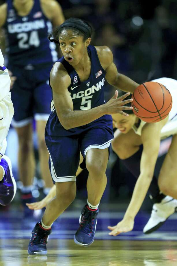 UConn guard Crystal Dangerfield. Photo: The Associated Press File Photo  / Copyright 2016 The Associated Press. All rights reserved.
