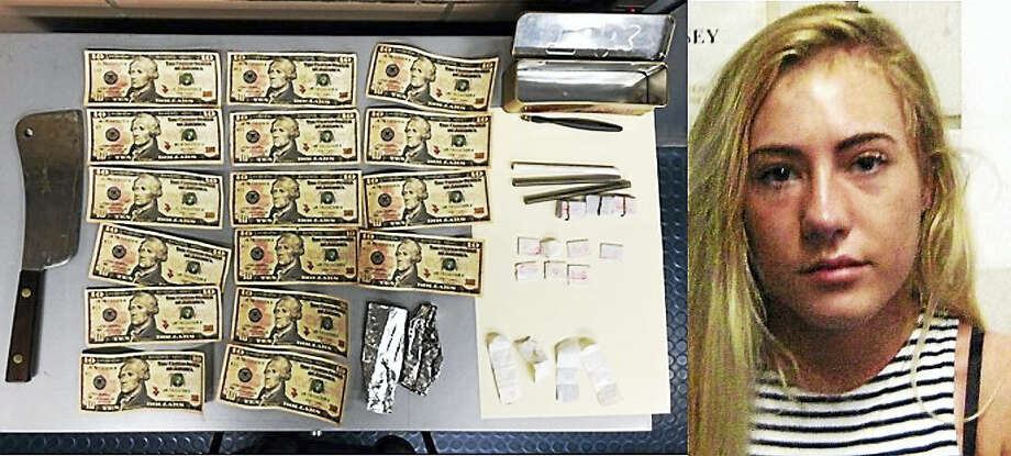 Willow Martin, right, was found with dozens of envelopes of heroin, several counterfeit $10 bills and a large knife while trying to cross the George Washington Bridge late Monday night, officials said. Photo: Courtesy Of Port Authority Of New York And New Jersey