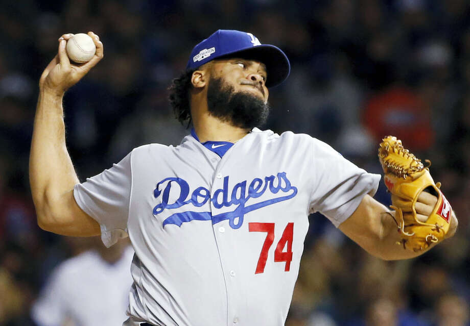 Kenley Jansen has agreed to an $80 million, five-year contract with the Dodgers. Photo: The Associated Press File Photo  / Copyright 2016 The Associated Press. All rights reserved.