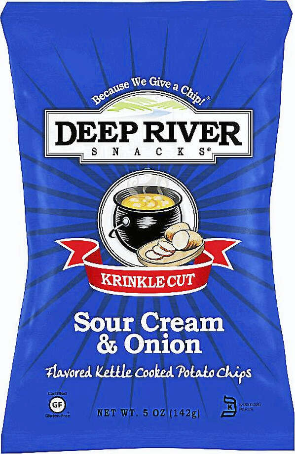 Deep River Snacks, based in Deep River, is recalling its 2- and 5-ounce Sour Cream & Onion Kettle Chips because the buttermilk powder used in the production may contain traces of salmonella. Photo: Courtesy Photo