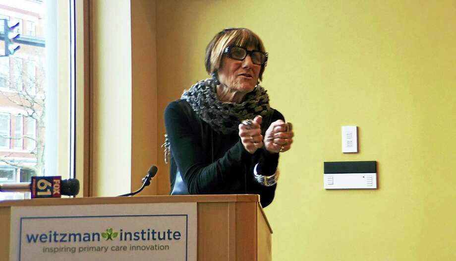 U.S. Rep. Rosa DeLauro, D-3, held an Opioid Addiction Forum Monday night at the Community Health Center, where she discussed two new bills that would expand the resources available to addicts and give more individuals access to treatment to fight addiction. Photo: Sam Norton — The Middletown Press