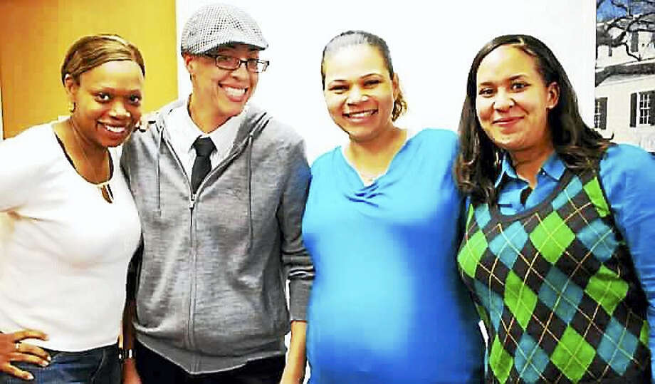 Kimberly Morris, second from left, with her friends. Morris was remembered as a kind person and good friend with a contagious laugh. Photo: Photo Courtesy Of Coryse Villarousel