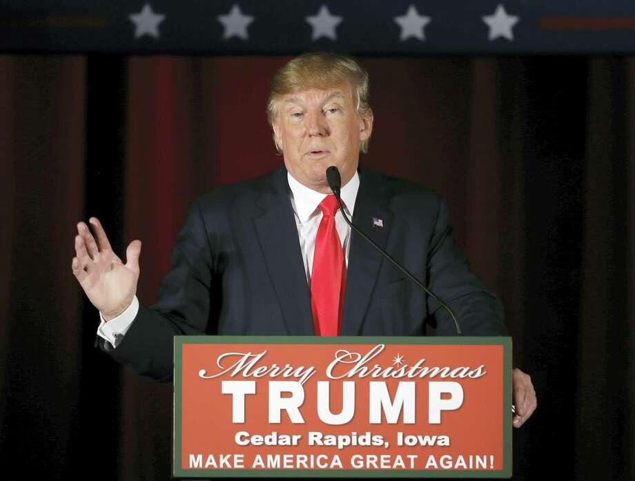 Republican presidential candidate Donald Trump Photo: File Photo  / AP