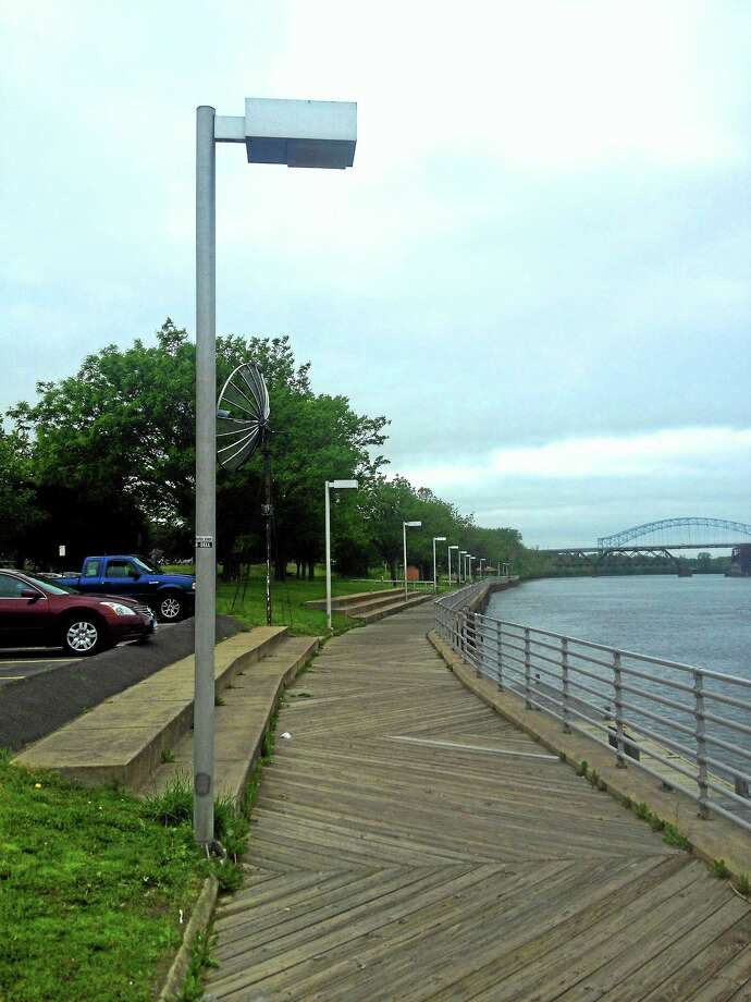 LED lights on the Harbor Park boardwalk along the Connecticut River in Middletown Photo: File Photo
