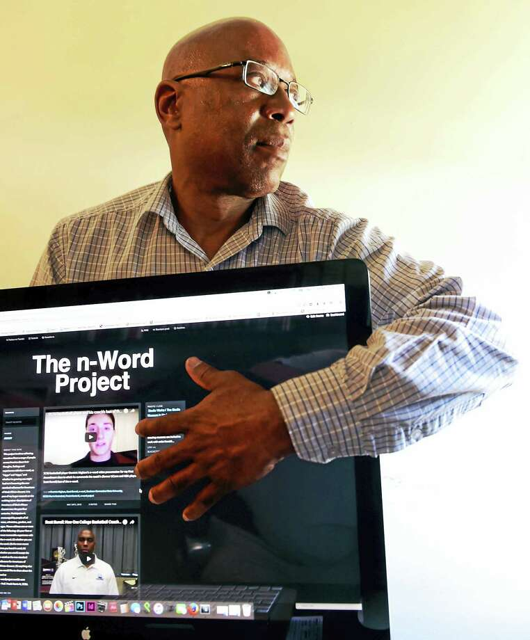 "Frank Harris, Southern Connecticut State University journalism professor, explores the n-word through his n-Word Project, which involves collecting narratives from a range of people across America, about their thoughts, feelings and experiences with the n-word, as ""nigger"" and ""nigga."" Photo: Peter Hvizdak — New Haven Register  / ©2016 Peter Hvizdak"