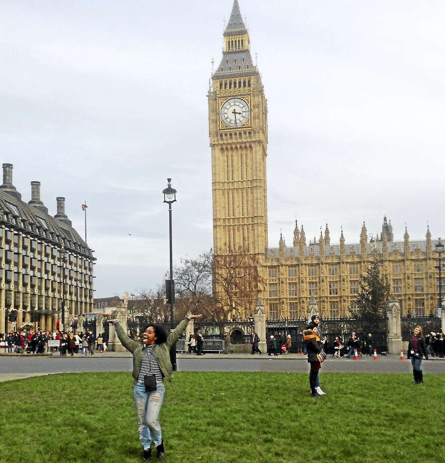 The teen dancer said she was excited to visit the Houses of Parliament and Big Ben. Photo: Courtesy Photo