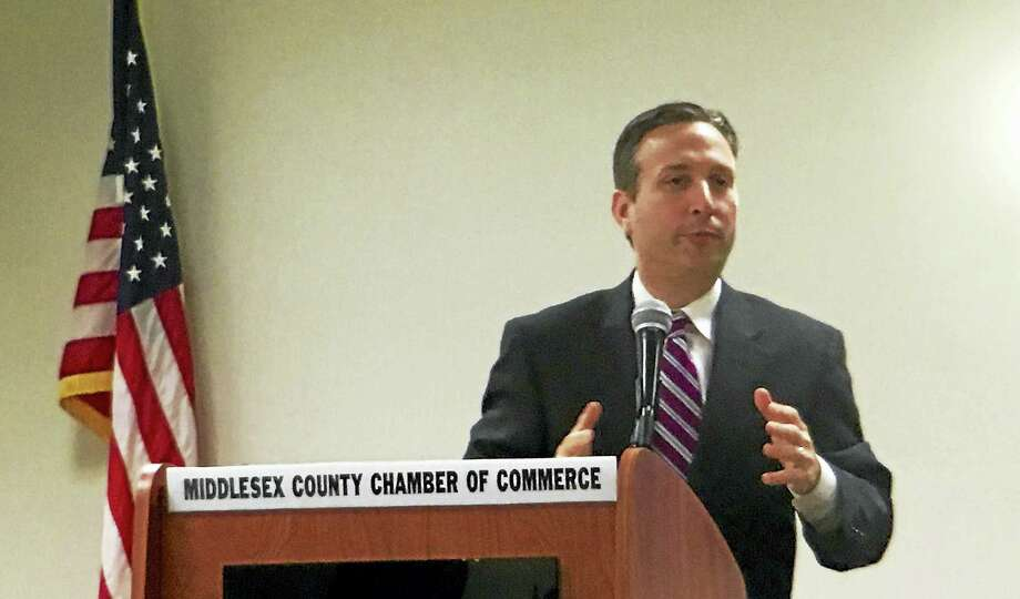 Senate Majority Leader Bob Duff addressed Middlesex County Chamber of Commerce members during a Legislative Leadership Series on Monday in Cromwell. Photo: Sam Norton — The Middletown Press