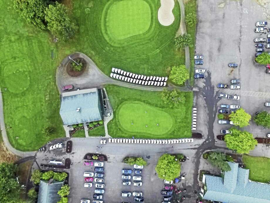 Images captured by a drone photographing the annual Middlesex Hospital golf tournament, which took place in September. Photo: Courtesy Airborne Works