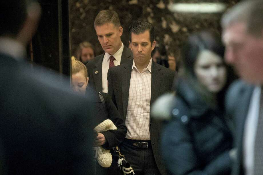 Donald Trump Jr. arrives at Trump Tower in New York on Dec. 6, 2016. Photo: AP Photo/Andrew Harnik  / Copyright 2016 The Associated Press. All rights reserved.