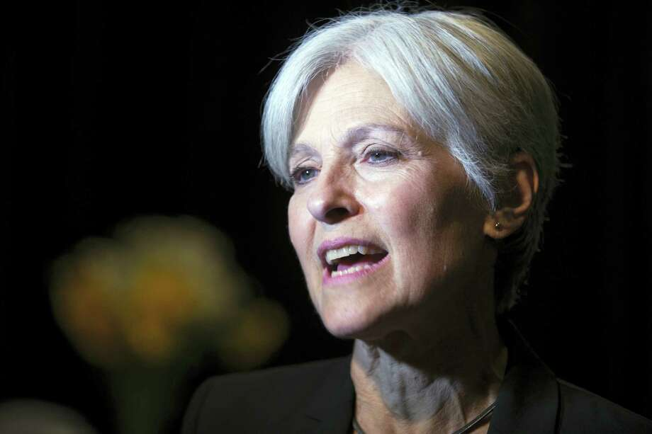 Green party presidential candidate Jill Stein meets her supporters during a campaign stop at Humanist Hall in Oakland, Calif. in October. Photo: D. Ross Cameron — AP File Photo  / FR39290 AP
