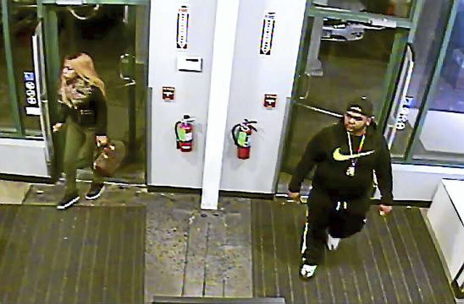 Clinton police are asking for the public's help to identify these two individuals. Photo: Clinton Police Department