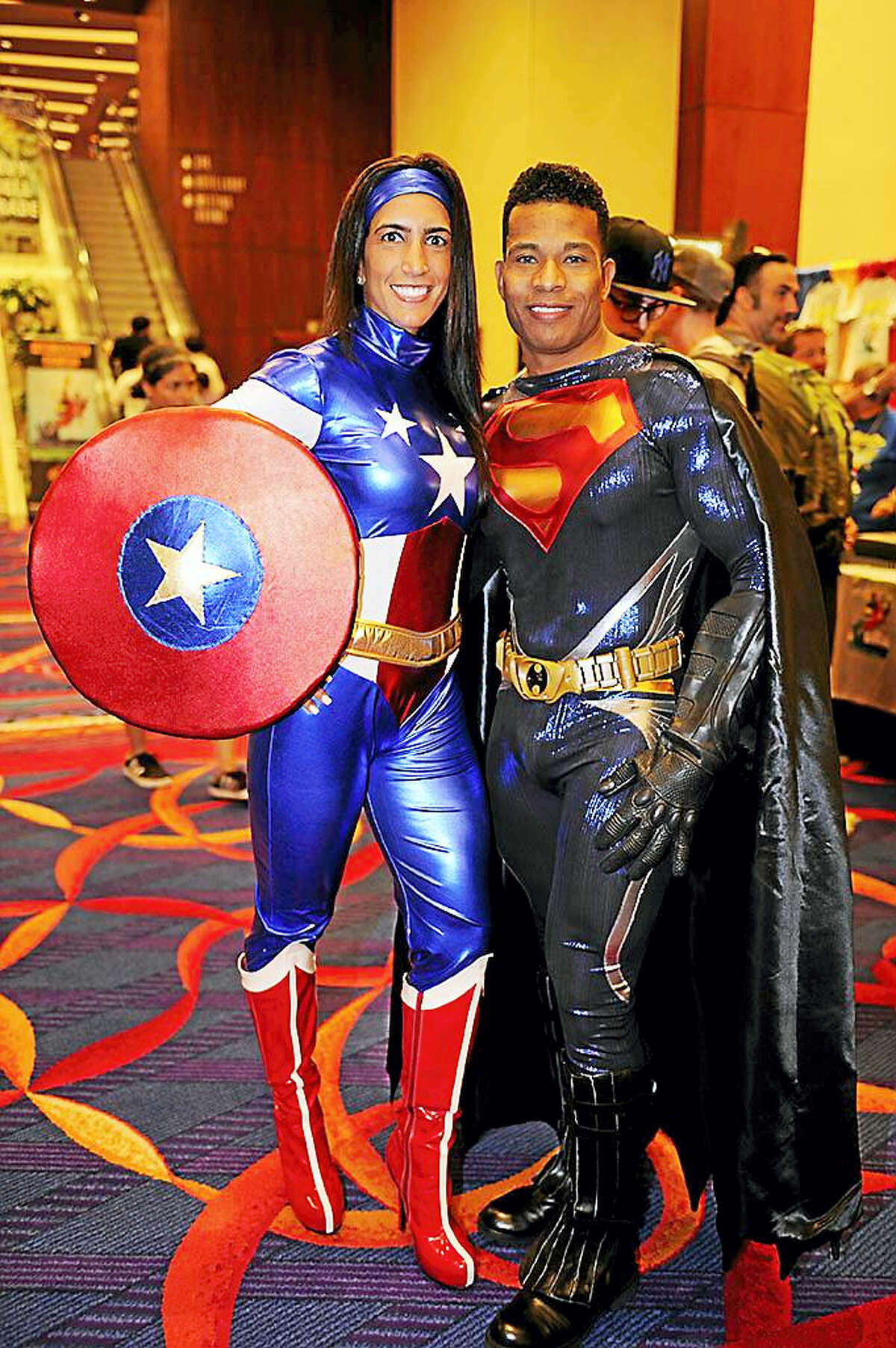 Two convention attendees in 2015 at Mohegan.
