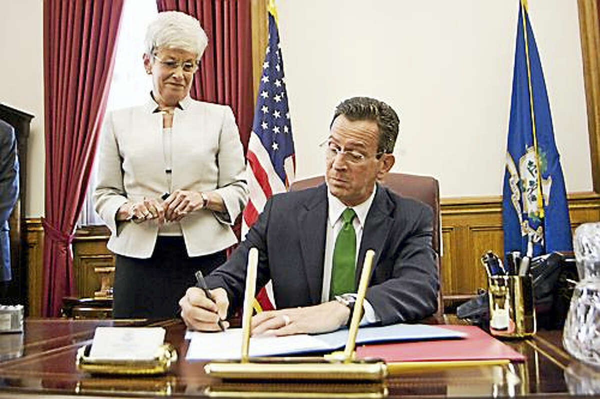 Gov. Dannel P. Malloy and Lt. Gov. Nancy Wyman in 2011