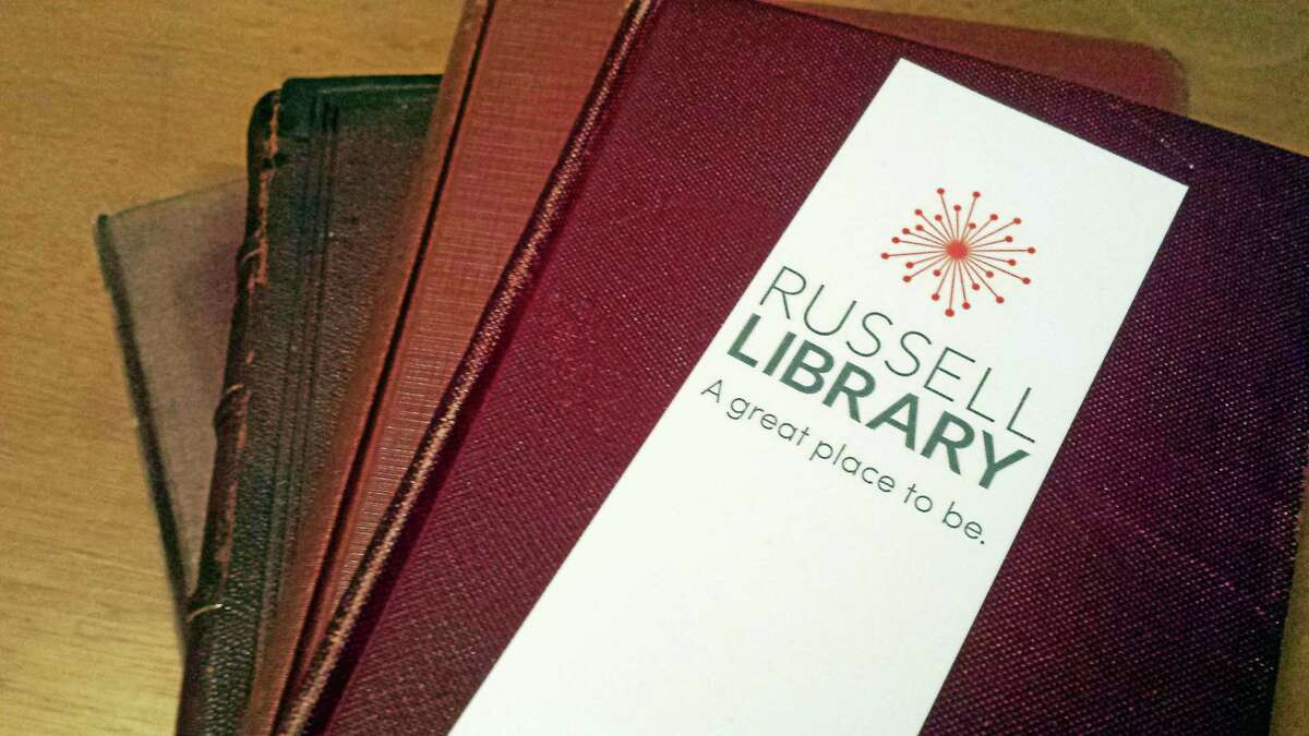 The new logo of the Russell Library in Middletown.