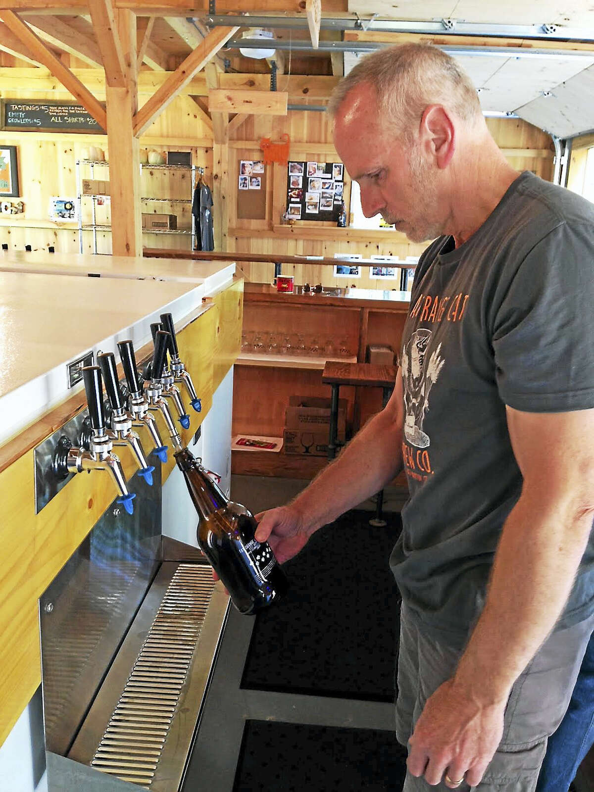 Fat Orange Cat Brewery in East Hampton, the town's first, is located next to a pond and a vernal pool in the Salmon River watershed area, which elevates the well water quality and enhancing the beer's taste.
