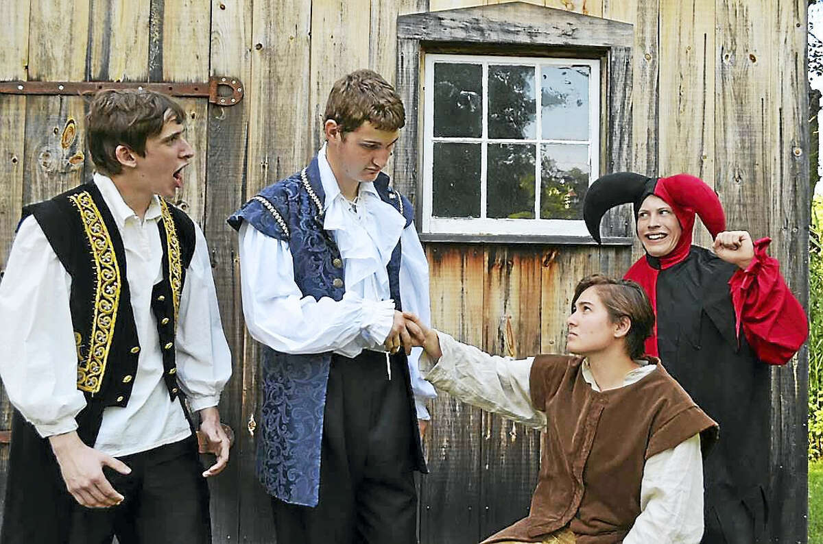 """Part of the cast of """"The Merchant of Venice"""" in Clinton."""