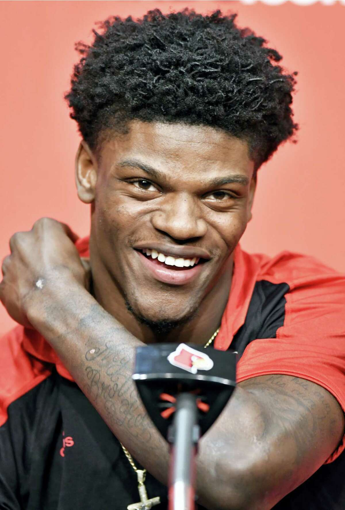 Lamar Jackson, reacting to a question about being a Heisman finalist earlier this week, was named the 50th Walter Camp Football Foundation Player of the Year Thursday night.