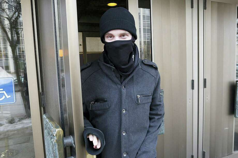In this Feb. 2, 2016 photo, Aaron Driver leaves the Law Courts in Winnipeg, Manitoba. Photo: John Woods/The Canadian Press Via AP  / The Canadian Press
