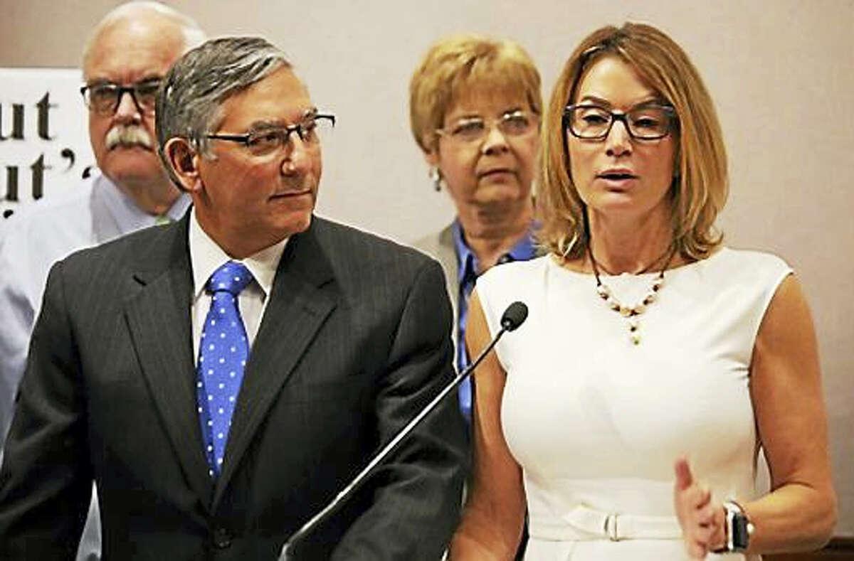 House Minority Leader Themis Klarides and Senate Minority Leader Len Fasano