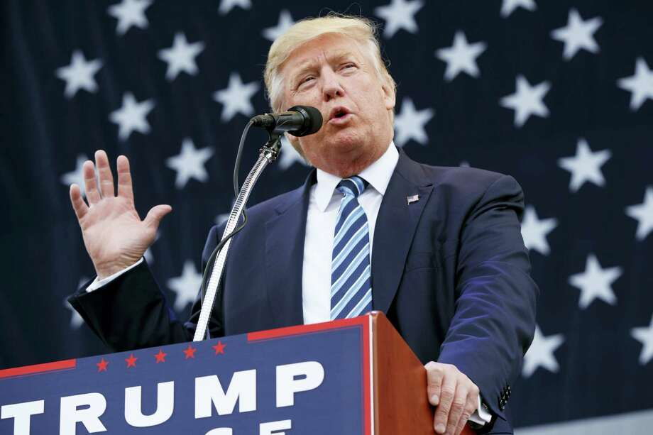 Republican presidential candidate Donald Trump speaks during a campaign rally, Friday in Greensboro, N.C. Photo:  Evan Vucci — The Associated Press  / Copyright 2016 The Associated Press. All rights reserved.