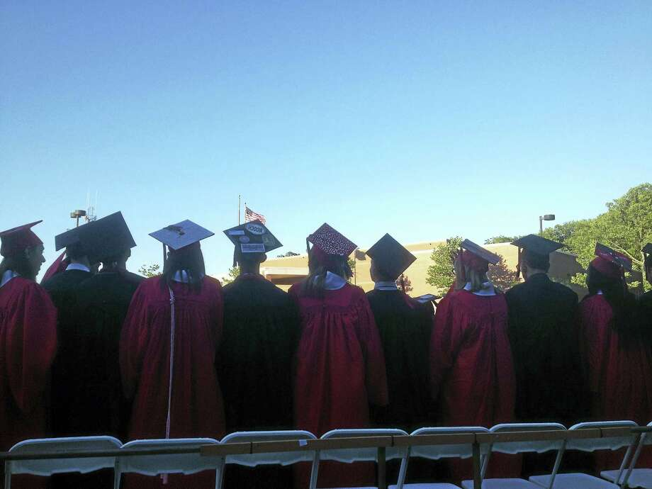 Eighty-seven students graduated from Portland High School on Thursday. Photo: Jeff Mill — The Middletown Press