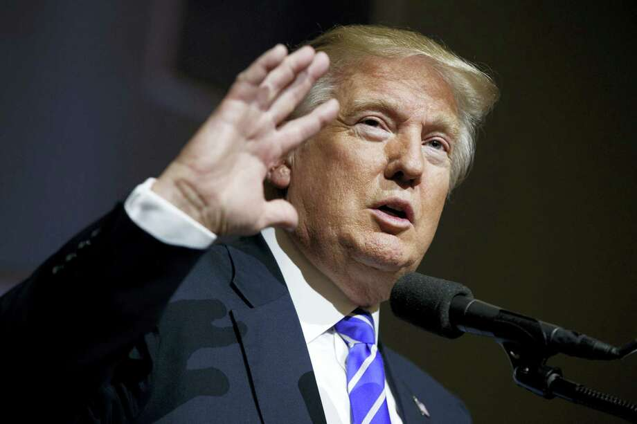 Republican presidential candidate Donald Trump speaks during a campaign rally, Aug. 10, 2016, in Abingdon, Va. Photo: AP Photo/Evan Vucci / Copyright 2016 The Associated Press. All rights reserved. This material may not be published, broadcast, rewritten or redistribu