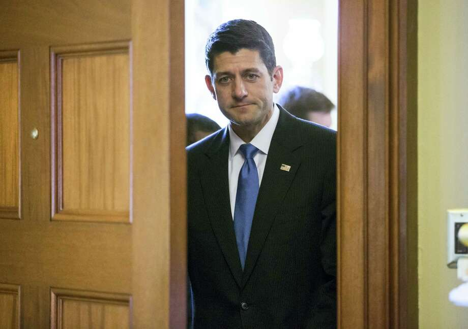 House Speaker Paul Ryan of Wis. arrives at his office on Capitol Hill in Washington June 8. Photo: J. Scott Applewhite — The Associated Press  / AP