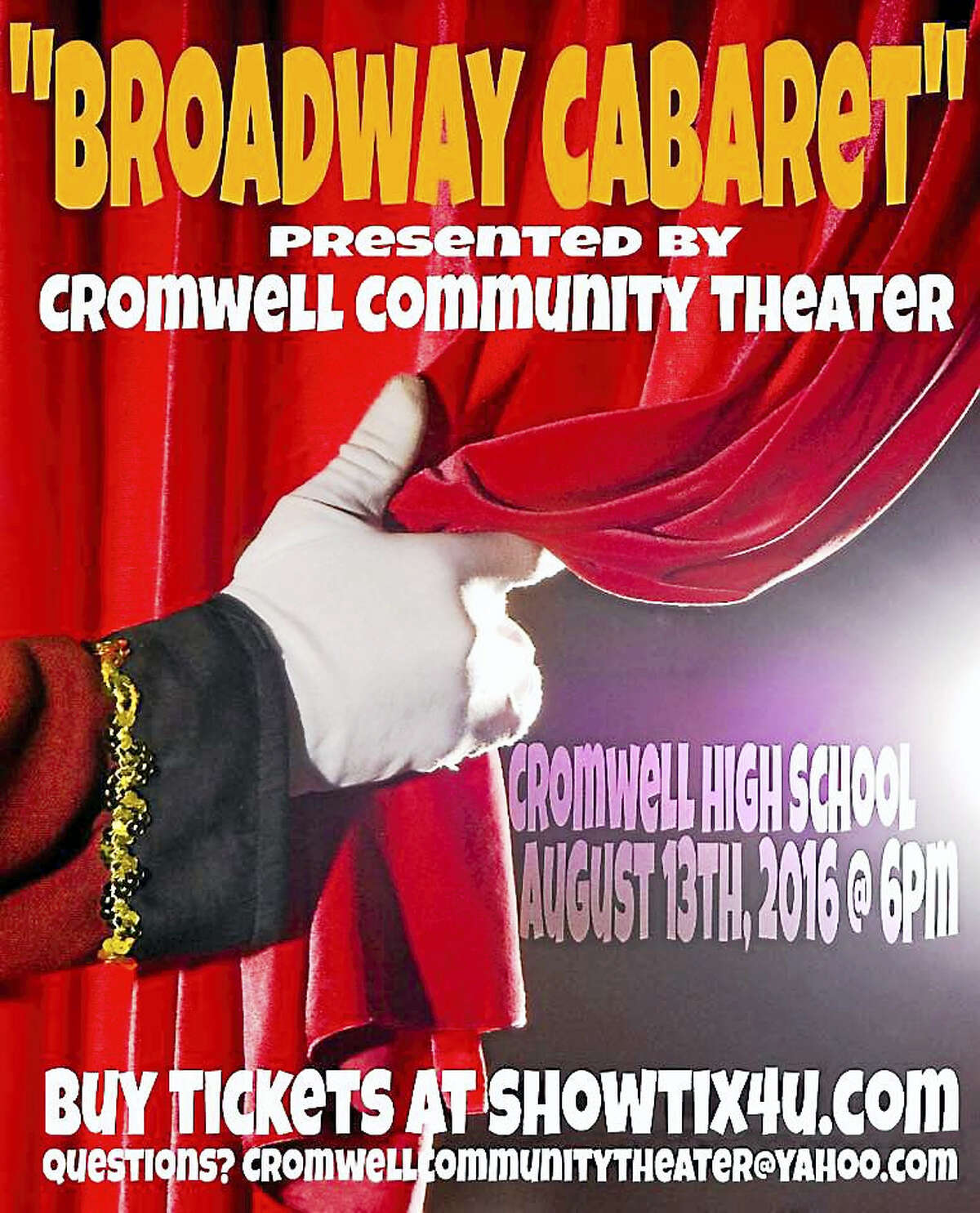 Cromwell Community Theater singers, dancers, comedians and instrumentalists will show off their skills this weekend.