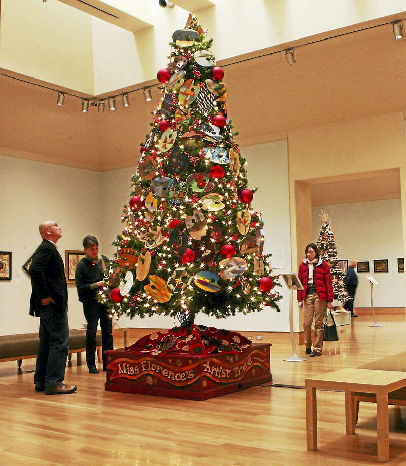 Contributed photo An artist tree, part of the Florence Griswold Museum's holiday display. Photo: Digital First Media