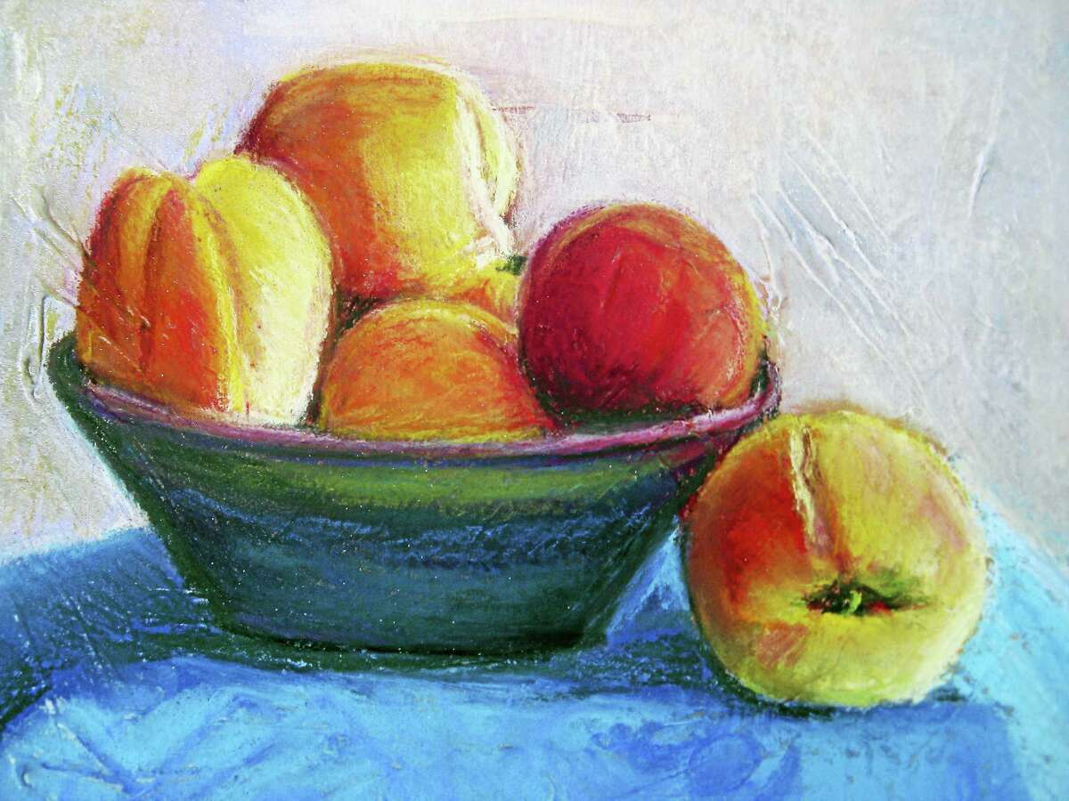 Contributed photoPeaches, by Jackie Peterson, who will give a demonstration and workshop this month with the Middletown Art Guild.