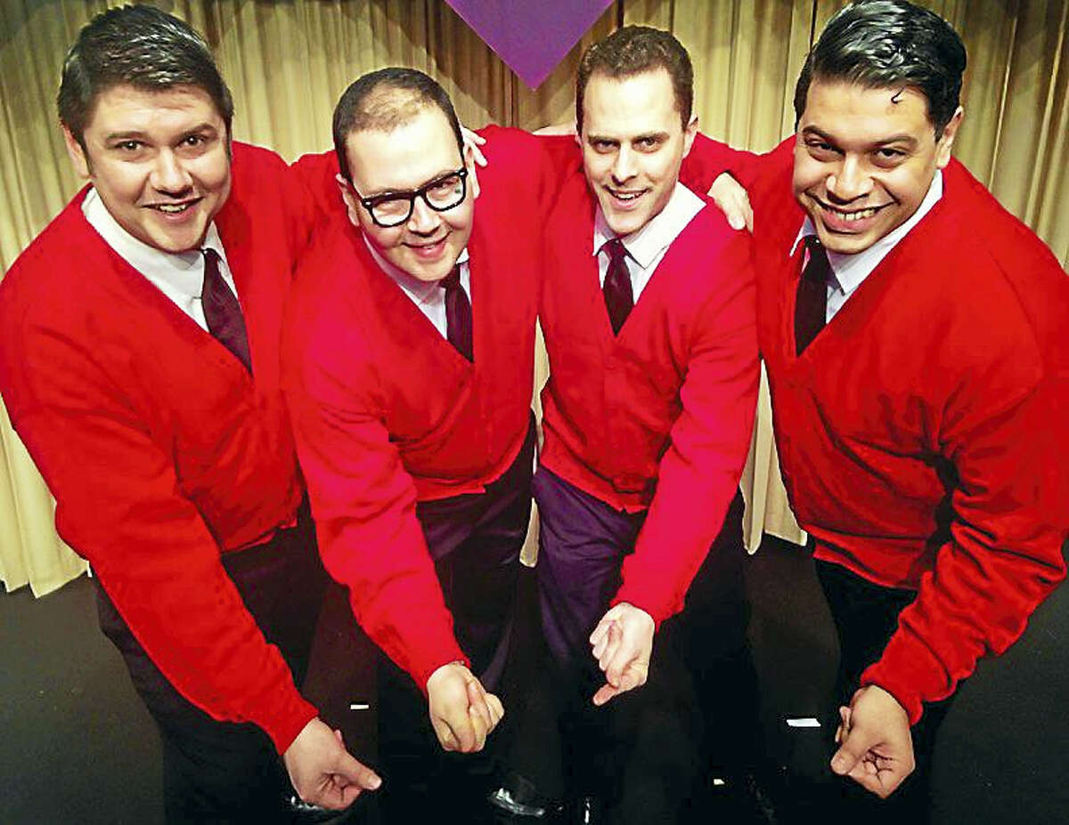 Contributed photoThe Cardigans, a musical celebrating doo-wop music, is performing now at the Connecticut Cabaret Theatre in Berlin.