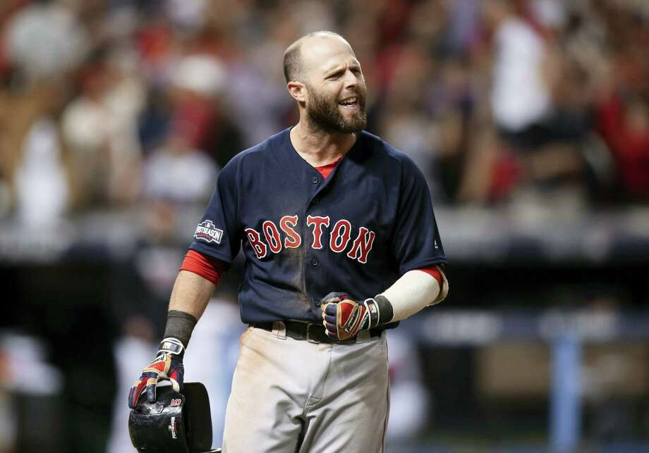Dustin Pedroia had arthroscopic surgery on his left knee on Wednesday. Photo: The Associated Press  / FR171101 AP