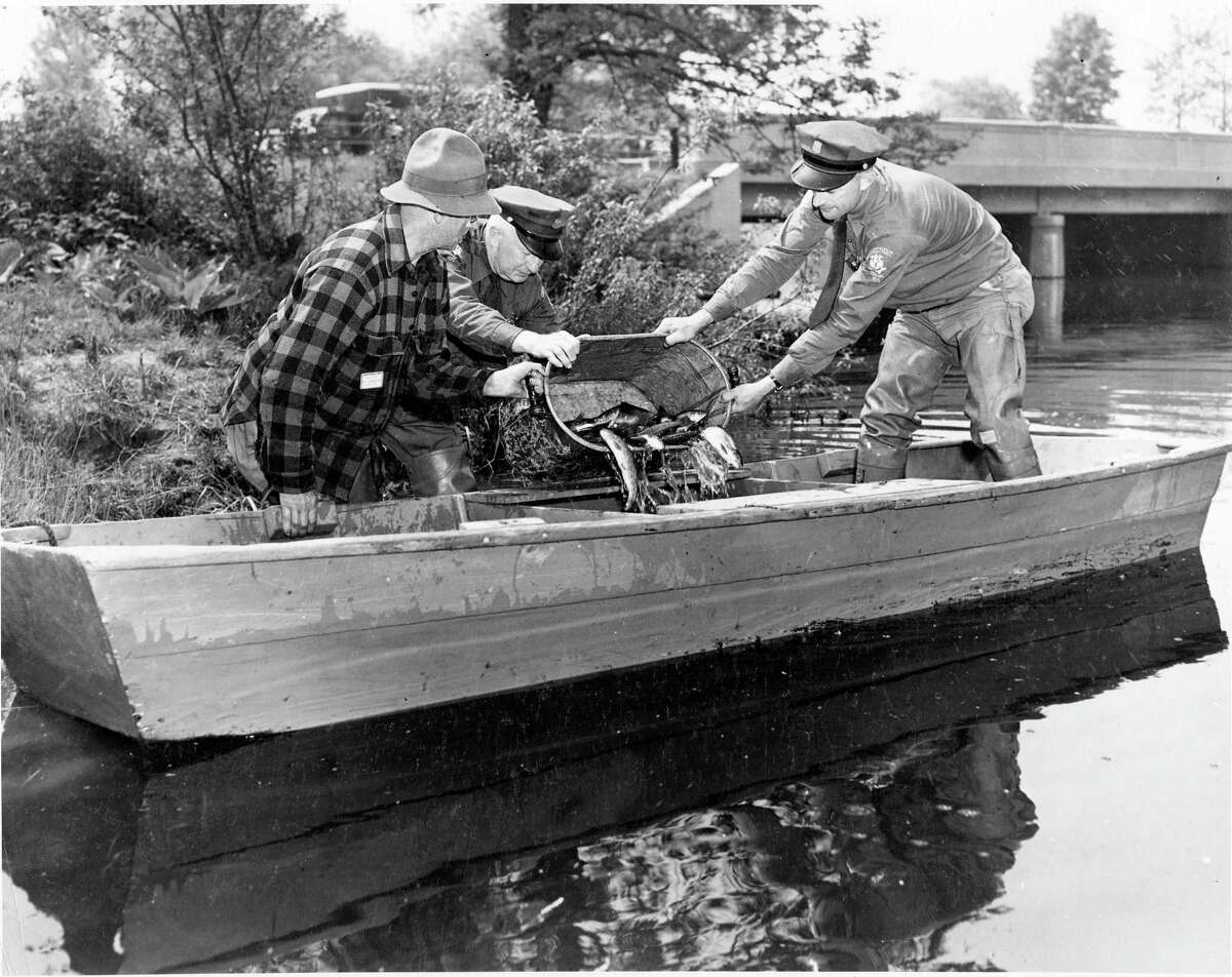 The state's Natural Resource Conservation department is celebrating 150 years since its creation. As part of the milestone, the DEEP is hosting coinciding events all year long and showcasing historical photographs of fisherman enjoying their sport.