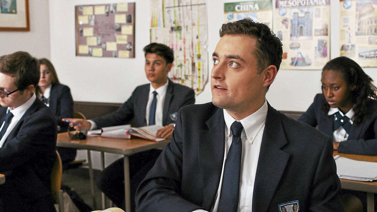 Erik Bloomquist, foreground, as a boarding school student.