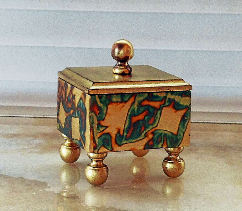 Contributed photo Napoleon, hardwood, gilded interior and exterior w. gold metal leaf, fabric bottom, by Linda Rizzuto. Photo: Journal Register Co.