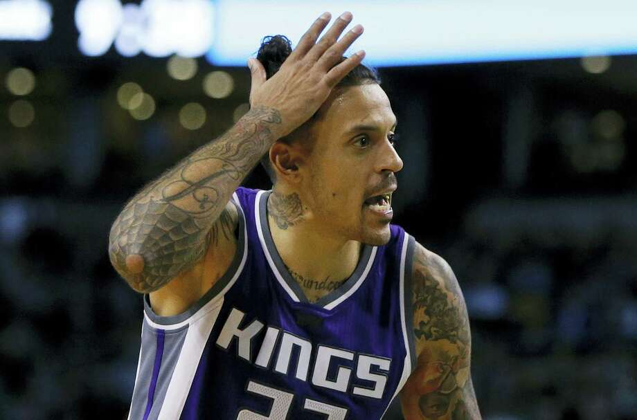 Sacramento Kings' Matt Barnes argues a call during a recent game. Photo: Michael Dwyer — The Associated Press  / Copyright 2016 The Associated Press. All rights reserved.