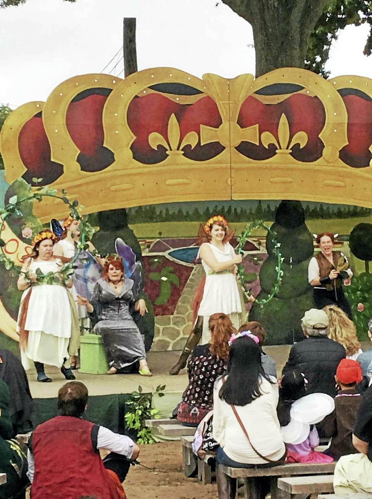 A stage event at Connecticut Renaissance Faire last week.